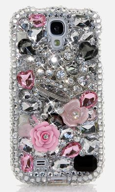 Tiaras and Trinkets handcrafted Bling case Design for Samsung Galaxy S4, iPhone 4/ 4s, iPhone 5/ 5s, iPhone 6/ 6s Plus, Samsung Galaxy (S3, S5 S6 Edge), Galaxy Note( 2, 3, 4, 5), Nokia Lumia, Black Berry, LG, Motorola and for most  phone/device. http://luxaddiction.com/collections/3d-designs/products/tiaras-and-trinkets-design-style-391