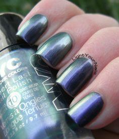 NYC Frozen Silver  #nyc #nails #nailpolish #duochrome #green #purple