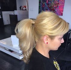 Cute ponytail with volume