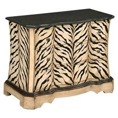 A dark granite top adds luxury to this safari inspired small chest of three drawers. The Kenya Zebra Pattern adds a unique look to the traditional silhouette of this transitional chest that makes a cool nightstand, end table, or interesting accent for a hall or entry way.  The Occasional Granite Top Chest with Zebra Pattern by Coast to Coast Imports is available in the Memphis, Jackson, Southaven, Cordova, Lamar, Summer, Germantown, Arkansas, Tennessee, Mississippi area from Royal Furniture.