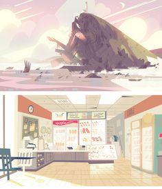 A arte do seriado Steven Universe, da Cartoon Network (#1) | THECAB - The Concept Art Blog