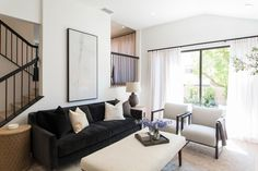 """Catch the final episode of HGTV's """"Celebrity IOU"""" where Jeremy Renner (alongside the Property Brothers, of course) transforms his mother's dated house in Los Angeles into an airy, porcelain space that combines traditional style with modern finishes. Property Brothers, Jeremy Renner, 1970s House, Modern Condo, Kitchen Modern, Two Tone Kitchen, Build A Wall, New Countertops, Interior Shutters"""