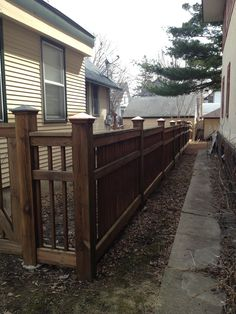 Fence Fence Ideas, Backyard Ideas, House Front, My House, Lighthouse Landing, Arbor Gate, Mission Style Homes, Gardening For Dummies, Craftsman Homes