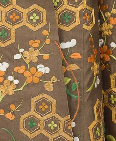 detail of Samurai-Class Woman's Formal Robe (Koshimaki) , late Edo period, early 19th century  Institution  Los Angeles County Museum of Art