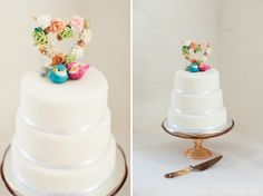 quirky vintage wedding cake