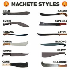The Best Machete To Carry In The Woods (To Cut Through Plants And Vegetation) - Knife Planet - Messer Swords And Daggers, Knives And Swords, Blacksmithing Knives, Forging Knives, Collector Knives, Types Of Swords, Sword Types, Types Of Knives, Knife Patterns