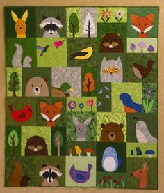 Looking for quilting project inspiration? Check out Kate's Woodland Quilt by…