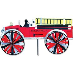 Wind Sculptures n Spinners  Accent Spinner - Fire Truck Patio Makeover <3 This is an Amazon Associate's Pin. Click the VISIT button to find out more from the website.