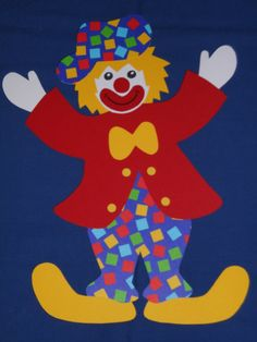 Window picture cardboard clown Poldi red jacket cubes carnival carnival decoration NEW Clown Crafts, Carnival Crafts, Carnival Decorations, Clown Faces, Learning Colors, Free Printable Coloring Pages, Applique Designs, Mardi Gras, Art Lessons