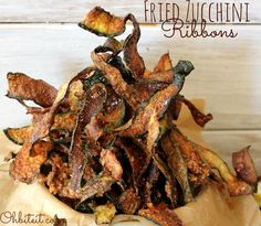 ~Fried Zucchini Ribbons!