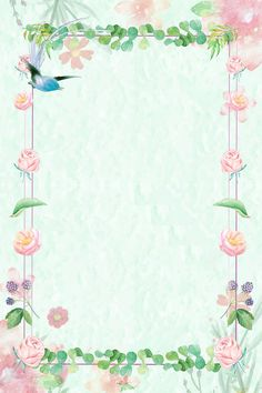 Plant Lace Border Background Little Bird Flower Backgrounds, Flower Wallpaper, Colorful Backgrounds, Plant Background, Background Images, Plant Images, Hand Drawn Flowers, Watercolor Rose, Wedding Frames
