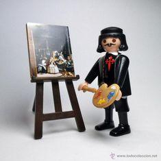 Playmobil Diego Velázquez con cuadro de Las Meninas