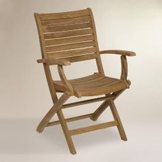 WorldMarket.com: Tanjun Teak Folding Armchairs, Set of 2