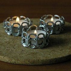 Crafts with Tin Can Caps have become a fun activity for many as well as a way to help the surroundings. Tin can caps are only one of the provides required. Soda Tab Crafts, Can Tab Crafts, Aluminum Can Crafts, Bottle Cap Crafts, Metal Crafts, Diy Bottle, Tape Crafts, Tin Can Art, Soda Can Art