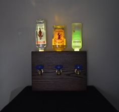 Dispensador de licor madera 3 botellas por NomadWoodworkingShop