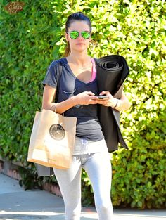 Alessandra Ambrosio is spotted out and about in Brentwood, California after enjoying a yoga class on November 21, 2015
