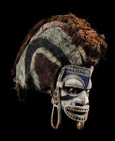 papua new guinea masks | PK: Tatanua masks, Malagan ceremony, New Ireland,