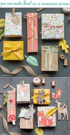 Download and print woodland gift wrapping for Spring - Lia Griffith - www.liagriffith.com #paper #paperart #paperlove #diygift #diygifts #printable #printables #diyideas #giftwrapping #madewithlia