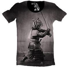 Samurai+Tiger+Men's+Tee+TShirt+Graphic+Tee+by+sharpshirter+on+Etsy,+$32.00