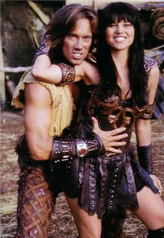 Lucy Lawless as Xena brilliant & Tony whats-his-name eehh  soh-k as Hercules.