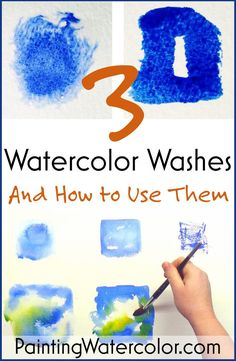 3 Watercolor Washes Watercolor Painting Lesson by Jennifer Branch Watercolor Paintings For Beginners, Watercolor Tips, Watercolour Tutorials, Watercolor Pencils, Watercolor Techniques, Watercolor And Ink, Watercolour Painting, Painting & Drawing, Watercolours