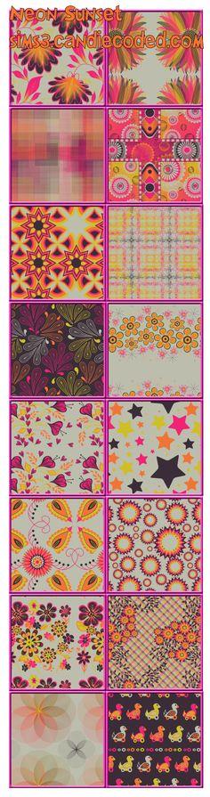 Neon Sunset Pattern Set  xoxo