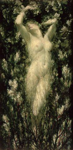 'Blodeuwedd' (ca. 1925 - 30) by Christopher Williams.