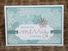 Christmas cards using Stampin Up Flurry of Wishes stamps, Holly Jolly stamp & die bundle. By Di Barnes #colourmehappy