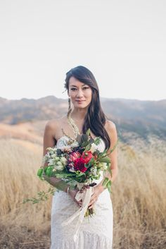 Keidi and her bouquet From SF With Love Photography