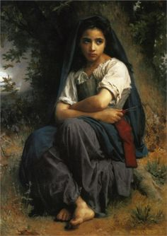 The Little Knitter by William Adolphe Bouguereau Handmade oil painting reproduction on canvas for sale,We can offer Framed art,Wall Art,Gallery Wrap and Stretched Canvas,Choose from multiple sizes and frames at discount price. William Adolphe Bouguereau, Munier, Knit Art, Pierre Auguste Renoir, Edouard Manet, Oil Painting Reproductions, Claude Monet, French Artists, Figure Painting