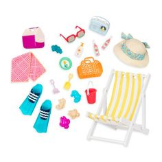 Our Generation<br>Fun and Adventure for the 18 in (46 cm) Doll<br><br>Beach, waves & sun are so much fun!<br><br>Dolls and outfits sold separately.