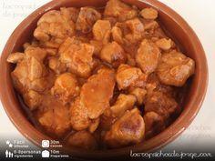Los Caprichos de Jorge: Mollejas a la Zamorana Tapas, Food And Drink, Meat, Chicken, Recipes, Good Food, Spanish Cuisine, Vegan Food, One Pot Dinners