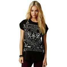 Fox Racing Darksiders Crew Roll Girls Short-Sleeve Shirts
