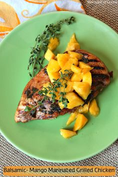 Balsamic Mango Marinated Grilled Chicken
