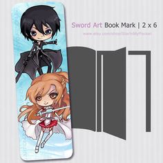 Hey, I found this really awesome Etsy listing at https://www.etsy.com/listing/165168209/sword-art-online-bookmark