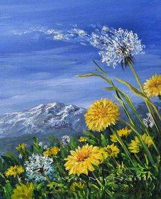 dandelion paintings - Google Search More