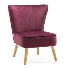 Velvet Cocktail Chair Mauve