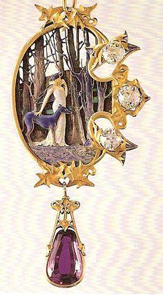 Art Nouveau. René Lalique pendant de cou