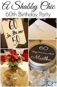 My sweet Aunt Martha just turned 60 and we celebrated with a simple but really pretty Shabby Chic Party. I wanted to share all of the fun, inexpensive details that made this party so special. It is perfect for any fall gathering and you could even steal some of these ideas for Thanksgiving!