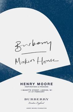 Henry Moore invitation design