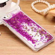 For-iPhone-6-Plus-Transparent-Dynamic-Glitter-Star-Liquid-State-Quicksand-Case