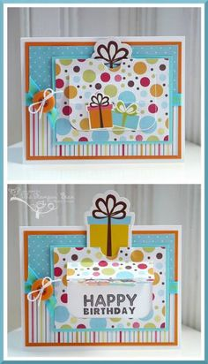 Happy Birthday Pop-Up Card by thestampinbean - Cards and Paper Crafts at Splitcoaststampers