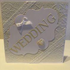 white weddingcard