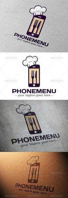 Phone Restaurant App Logo by BossTwinsMusic - Three color version: color, greyscale and single color.- The logo is 100 resizable.- You can change text and colors very easy u Restaurant App, Restaurant Logo Design, Luxury Restaurant, Beacon App, Travel Guide App, How To Clean Hats, App Logo, App Ui, Catering Business