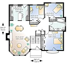 Plan W21050DR: Floor 1