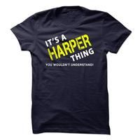 It is a HARPER Thing Tee