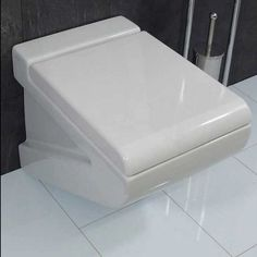 ArtCeram La Fontana Square White Wall Hung Toilet with Soft Close Seat 36x54 - FloBaLi #design #homedesign #toilethung #toilet #toiletsign #bathroomdesign #bathroomideas #bathrooms #modernbaths #bathdesign #homedesign #bathroomdecor Concealed Cistern, China Wall, Wall Hung Toilet, Modern Baths, Higher Design, Bath Design, White Walls, Bathrooms, House Design