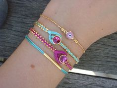 FREE SHIPPING Evil Eye Beaded Friendship Bracelet Set by cocolocca, $23.50