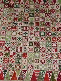 quiltlia: Dear Jane Christmas quilt by Annelies (Nantes, France, April 2013)