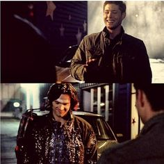 One of my favorite moments, because Dean laughs so hard.  I mean and Sam is covered in glitter, come on.